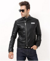Wholesale Motorcycle Sheepskin Jackets Men - New 2017 Brand men Motorcycle jacket water washed leather jacket men clothing fashion skull leather coat