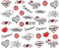Wholesale Tattoo Stickers For Nails - 50pcs different designs Casual Nail Stickers Temporary Tattoos Water Transfer Decals Wraps Foils Decorations for Nails Toes