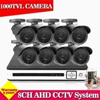 Wholesale Cheap Cctv Kits - NINI Cheap 8ch cctv system 8ch dvr kit 8pcs 1000tvl IR Outdoor indoor cctv camera system CCTV DVR video sureillance system