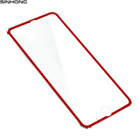 Wholesale Frame Protection Film - Red 3D Full Coverage Tempered Glass Protection Film For iPhone 7 7 Plus Screen Protector Alloy Metal Frame For iPhone7 7Plus