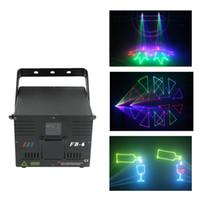 Wholesale laser ilda - AUCD 1W DMX ILDA RGB Animation Beam Laser Projector Light DJ Party Nightclub Professional KTV Wedding Stage Lighting FB-6