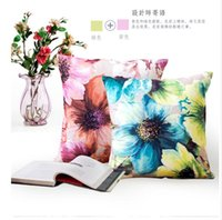 Wholesale Classic Pillow Cases - Wholesale- Cushions Classic Butterfly flower Bed Throw Pillow Case Cushion Pillowcase Pillow cover Home Party Gift
