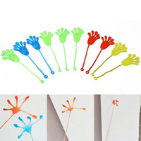Wholesale Mini Sticky - Plastic Mini Sticky Hands Palm Elastic Sticky Squishy Slap Flexible Pams Party Favors Classic Kids Toys OOA2361