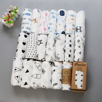 Wholesale cotton quilts - Hot Newborn 100% cotton blanket infant cartoon aden muslin blanket swaddle toddler blanket 120*120cm 47 style free shipping