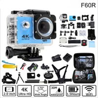 Action Kamera F60R Allwinner V3 Action Kamera 4K 30FPS Wifi Ultra HD 16MP 30M Wasserdichte Mini Helm Cam Bike Rekord Sport Cam Fotografie
