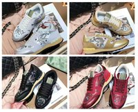 2018 Hot Sell Brand Camouflage Original Box Casual Shoes Mulher Novo Designer Gold Pink Animal Prints Rivets Mesh Trainer Cheap Sneaker