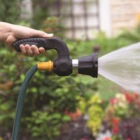 Clean Garden Tools Canada   Sprinkler Gun Irrigation Mighty Blaster Water  Jet Metal Hose Nozzle Spray