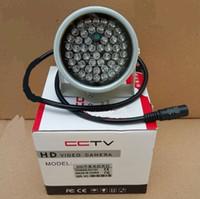 açık cctv kamera dizisi toptan satış-48 LED aydınlatıcı Işık CCTV Gece Görüş Gözetim Kamera Için 20-30 m Hiçbir Kırmızı Işık görünmez aydınlatıcı 850NM kızılötesi 48 LED IR Işık