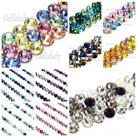 Crystal orange swarovski crystals - 144pcs Mixed Colors Swarovski Crystal Flatbacks Blutique Ornaments Rhinestones Accessories Girl Pick your Color ss7 mm