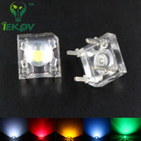 Wholesale Dome Light Kit - Wholesale- IEKOV LED 5mm Piranha Super Flux LED 20 EACH Red Green Blue White Yellow Leds kit 4 Pin Dome Wide Angle Light Lamp For Car Light