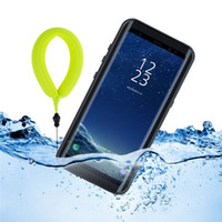 Wholesale Full Float - Samsung Galaxy S8 Waterproof Case, Shockproof Protective Full-sealed Floatable Hard Cover with Kickstand and Floating Strap for Samsung Gala