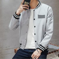 outerwears cover - 2017 new young men coat collar jacket slim printing outerwears