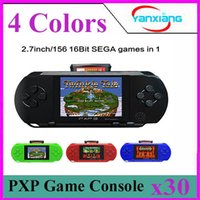 Wholesale 16 Bit Handheld Game Console - 30pcs 2.7 Inch 16 bit video game player PXP3 Portable Handheld Game Console YX-PXP3