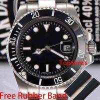 мужская швейцарская оптовых-AAA Luxury Brand мужская керамическая безель дизайнер Стальной браслет Спорт Мастер наручные часы автоматическая коробка вахты швейцарский световой Алмаз часы