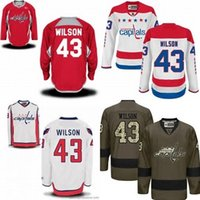Wholesale Toms Sale Cheap - Hot Sale Mens Washington Capitals 43 Tom Wilson Red White Green Best Quality Cheap 100% Embroidery Logo Ice Hockey Jerseys Accept Mix Order