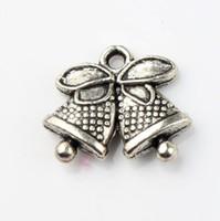jingles armbänder großhandel-100pcs / lot 16.6x14mm tibetanische silberne Klingel Bell-Weihnachtsdot-Bell-Charme-Anhänger-Art und Weise passende Armband-Halsketten-Ohrringe L793
