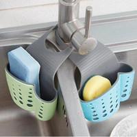 Wholesale Wholesale Portable Sinks - Cute Kawaii Kitchen Portable Hanging Drain Bag Drain Shelf Basket Bath Storage Gadget Basket Bath Storage Tools Sink Holder CCA6469 120pcs