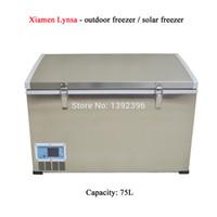 Wholesale Refrigerator 12v Compressor - Wholesale- 75L compressor refrigerator & full stainless steel material fridge & dc 12v & depth refrigeration