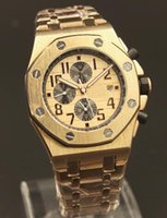 Wholesale Diving China Watches - Swiiss Luxury Automatic machanical watch for men Without chronograph 18K gold mens sport dive watches Top brands wristwatches China made AAA