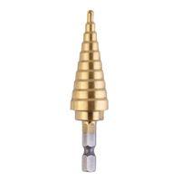 титановый конус оптовых-Прочный 4-22 мм Hex Титана шаги конуса сверла отверстие Groove металла древесины резак