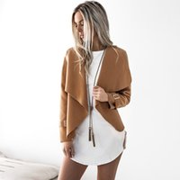 Wholesale cheap fashion winter clothes - Women Wool Blend Short Jacket Gray Black Camel Burgundy Long Sleeve Shawl Collar Winter Jackets Outwear Cheap Clothes DYG0908