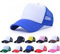 köpük kapaklar toptan satış-10 adet Özel Ucuz Erkekler Boş Snap Back Trucker Mesh Şapkalar Kadınlar Düz Beyzbol Bahar Yaz Köpük Net Snapbacks için Caps Caps Toptan