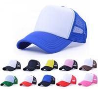 пустая шляпа с капюшоном оптовых-Специальные дешевые мужчины пустой Snap Back Trucker сетки шляпы женщины равнина бейсболки для весна лето пены Net Snapbacks шапки Оптовая