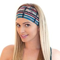 sports hair wrap - Bohemia Headbands Colors Women Sports Yoga Headbands Lady Washing Face Stretch Wide Head Wrap Floral Hair Accessories