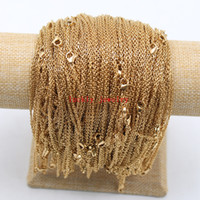 Wholesale Thin Chain Link Necklace - 10pcs lot in bulk wholesale stainless steel gold thin 2mm 18 inch strong flat oval chain necklace women jewelry