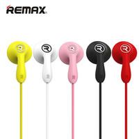 kulaklık hattı kontrolü toptan satış-HBS Kulaklık Remax RM-301 Renkli Yüksek Performanslı Stereo telefon kulaklık Mic Ile In-Line Kontrol Gürültü Iptal Kulaklıklar Için MP3 çalar