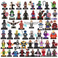 Wholesale Superman Best Toys - 50pcs lot Super heroes building blocks Iron man Thanos Catwoman Superman Spider-Man kids best gift toys bricks