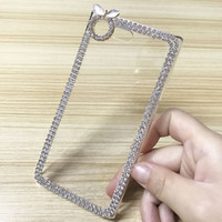 Luxo Bling Diamond Glitter Case rígido transparente para Sony Xperia X Compact Z5 Mini Z3 Z1 Girl Bag Protector Phone Back Housing Rhinestone Cover