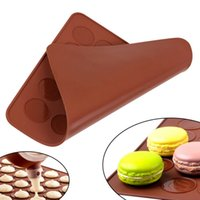 Wholesale shaped macaron mats for sale - Group buy Practical cavity Silicone Pastry Cake Macaron shape mould Oven Baking pastry Mould Sheet Mat Pastry Tools