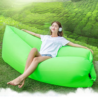 Wholesale Wholesale Bean Bag Beds - Outdoor Sofa Bed Furniture Inflatable Lounge Bags Lazy Sleeping Sofa Chair Portable Bean Bag Self-Inflated Cushion Lay Bag