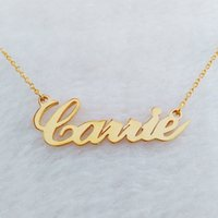 Wholesale Necklaces Customized - Name Necklace Stainless Steel Personalized Pendant Necklace - Your Exclusive Jewelry,Friendship,Gift,Customized Name Necklace,Free Gift Box