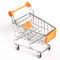 orange shopping cart - Supermarket Handcart Shopping Utility Cart Toy Box Mode Orange Storage Child Good Gift Toy Boxes PTCT