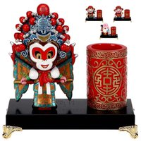 Wholesale chinese mail - Sun Wukong Chinese ornaments wind send foreigners students traditional foreign pen business abroad gift bag mail