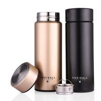 Wholesale Thermo Mug Stainless Steel - 450ML Thermos Cup 304 Stainless Steel Insulated Mug With Tea Infuser Thermo Mug Garrafa Termica Coffee Thermo Mugs Male Gift