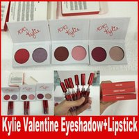 Wholesale Valentines Wear - kylie valentine collection mini kyshadow Kylie Cosmetics Jenner diary eye shadow Eyeshadow Palette 2colors valentine day gift