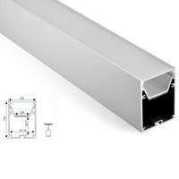 Wholesale profile ceiling - 10 X 1M sets lot 6000 series aluminum profile led strip light and big size square profile alu for ceiling pendant lamps