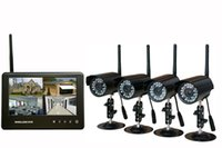 """Wholesale Security Camera Sd Card Wireless - Digital Wireless 7"""" LCD Monitor DVR Security System CCTV Cameras SD Card Recording Waterproof Camera Home Security"""