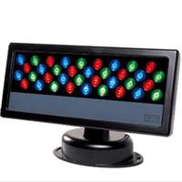 projecteur achat en gros de-36 * 3W LED RGB Projecteur LED Laver Lumière Imperméable À L'eau DMX 512 Stage Lumière LED Projecteur Mur Laveuse Lampe fond
