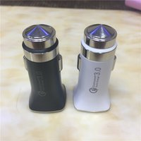 Wholesale Usb 3a - Fast charging QC 3.0+5V 3A USB Port Car Charger 94-V0 Fireproof rating Universal 12-24 Volt for Smart phone DHL free send