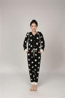 Wholesale Home Nightgown - Women's Home Wear Jumpsuit Super Soft Polar Fleece Jumpsuit Women's Nightgown Nightwear Long Sleeve Sleepwear