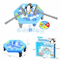 Wholesale Indoor Game Table - Mini Penguin Trap Interactive Indoor Board Game Ice Breaking Save The Penguin Parent-child Table Entertainment Toys Kids Gifts
