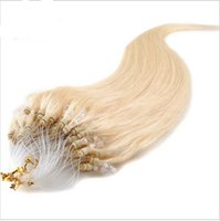 """Wholesale Indian Remy Micro Loop 1g - 8A Brazilian hair 10""""-26"""" #613 100g (1g s) 100g pcs Indian Remy Human Loop Hair Micro Ring Hair Extensions A large number of wholesale"""