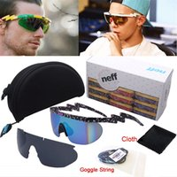 Wholesale Case Coat - Wholesale- Deal With It 2 Pieces Lens Reflective Coating NEFF Sunglasses Men Women Sports Lebron James Goggles With Case String Cloth