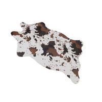 Wholesale Rubber Carpet Pads - Wholesale- 110x75cm Carpet Shower Floor Cow Designed Bathroom Bath Rug Tub Foam Pad