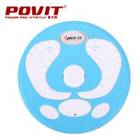 Wholesale twister plate fitness - Wholesale- Home fitness magnetic therapy twister plate blue and white