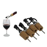 Wholesale Plastic Wine Cork Stoppers - Olive Oil Sprayer Liquor Dispenser Wine Cork Pourers Spout Flip Top Beer Bottle Cap Stopper Tap Faucet Bar Tools OOA1993